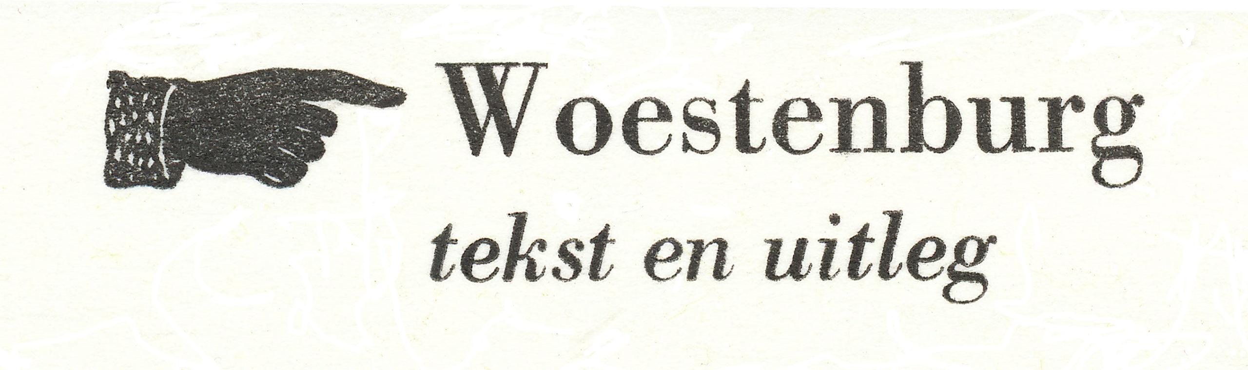 Woestenburg tekst en uitleg